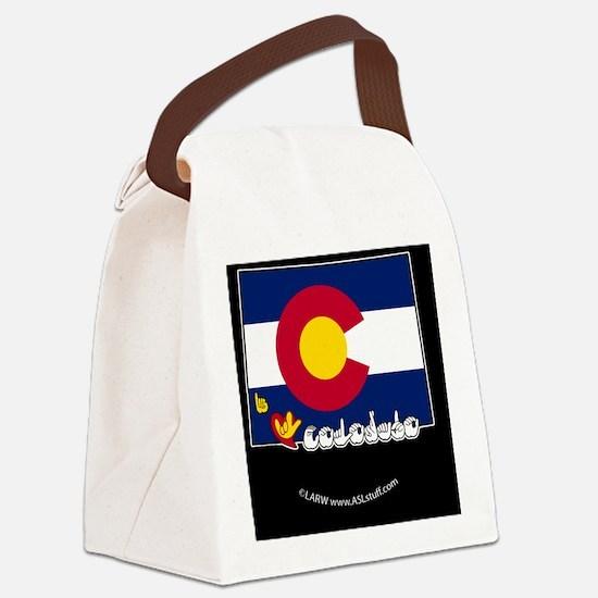 COstateFlagILYbbt Canvas Lunch Bag