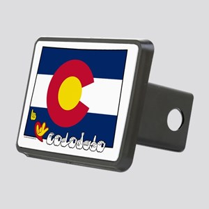 COstateFlagILY Rectangular Hitch Cover