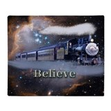 Believe with trains Fleece Blankets