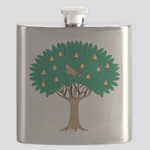 Partridge in Pear Tree Flask