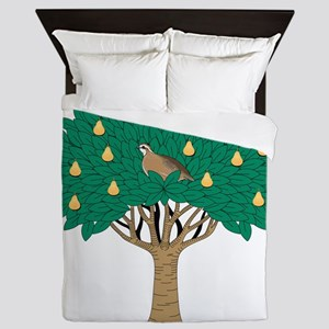 Partridge in Pear Tree Queen Duvet