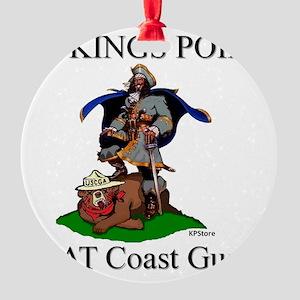Beat Coast Guad (Smokey) Round Ornament