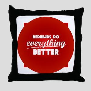 redheads_everything_rev Throw Pillow