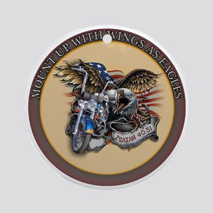 CB10 EAGLE BIKE Round Ornament