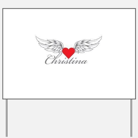 Angel Wings Christina Yard Sign