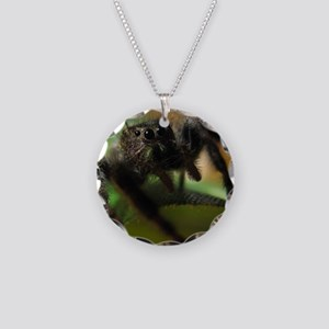 Jumping Spider Necklace Circle Charm