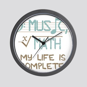 Math and Music Wall Clock