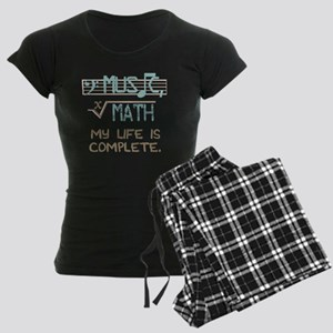 Math and Music Women's Dark Pajamas