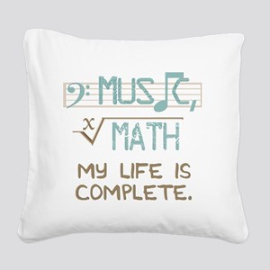 Math and Music Square Canvas Pillow