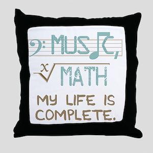 Math and Music Throw Pillow