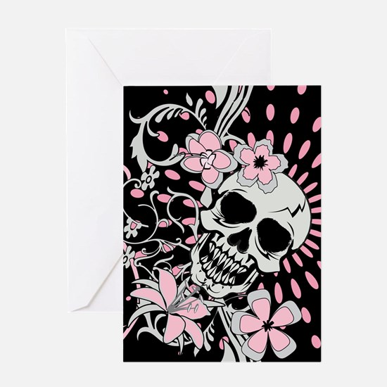 Vintage Skull IPAD Greeting Card