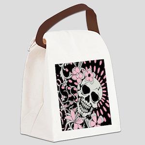 Vintage Skull IPAD Canvas Lunch Bag