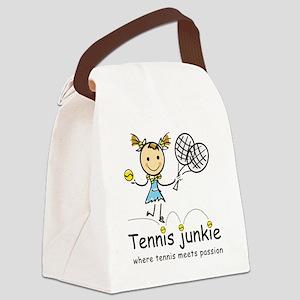 tennis_junkie2 Canvas Lunch Bag