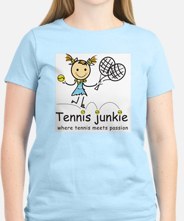 tennis_junkie2 Women's Light T-Shirt