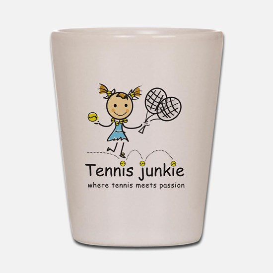 tennis_junkie2 Shot Glass