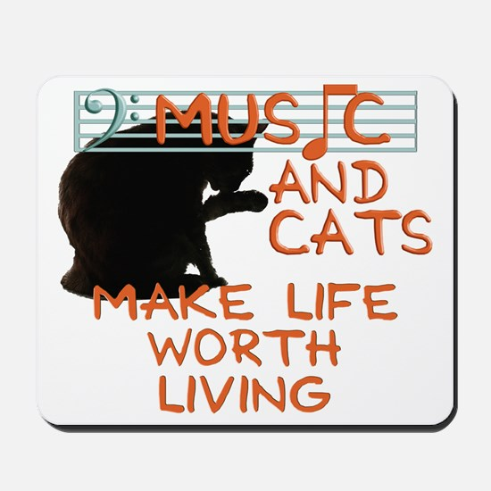 musicandcats Mousepad