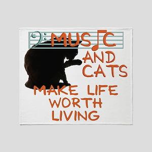musicandcats Throw Blanket