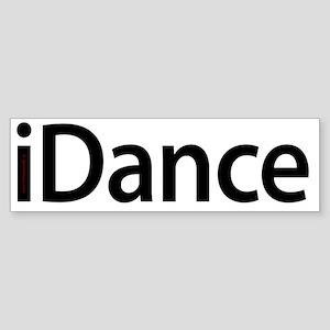 iDance_blk Sticker (Bumper)