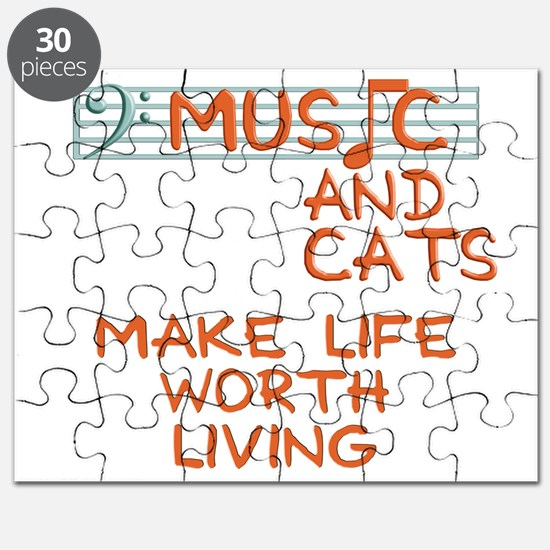 musicandcats-dark Puzzle