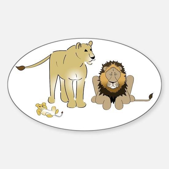 LionGroupdark Sticker (Oval)
