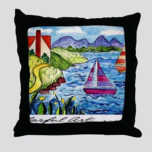 colorful art cal  Throw Pillow