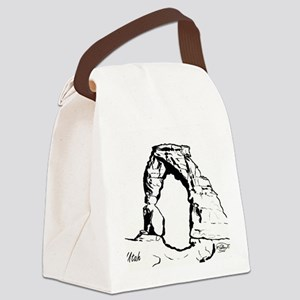 DelicateArchUtahForBlack Canvas Lunch Bag