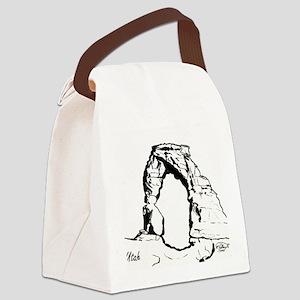 DelicateArchUtahForBlack Canvas Lunch Bag