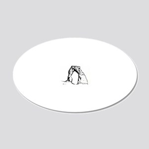 DelicateArchUtahForBlack 20x12 Oval Wall Decal
