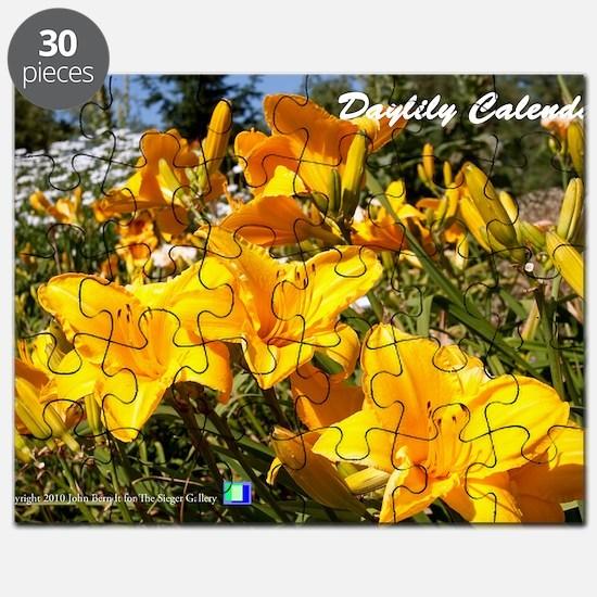 Daylily Sparkling Orange Puzzle