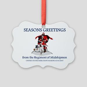 Santa-Mariner1 Picture Ornament