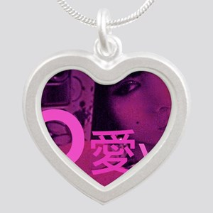 Love from Bai Ling Silver Heart Necklace