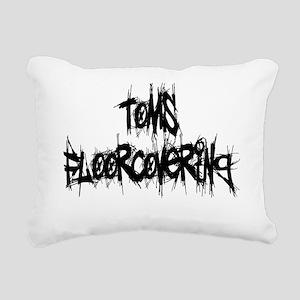 tomsfloor22 black Rectangular Canvas Pillow