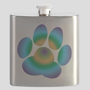 Rainbow Friendly Paw Flask