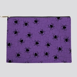 Purple Spider Pattern Makeup Pouch