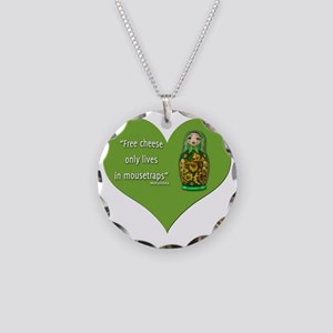 FreeCheese2 Necklace Circle Charm
