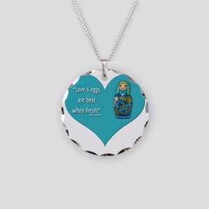 LoveEggs Necklace Circle Charm