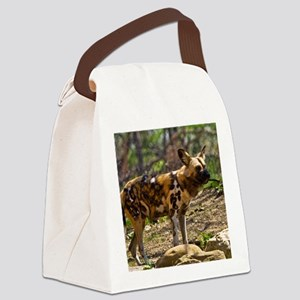 (2) African Wild Dog  1932 Canvas Lunch Bag