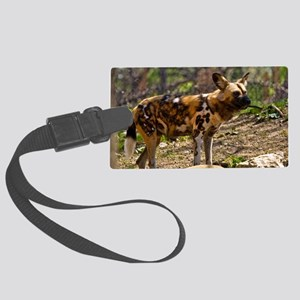 (2) African Wild Dog  1932 Large Luggage Tag