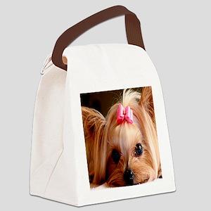 Yorkie calendar Canvas Lunch Bag