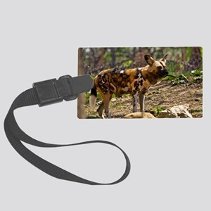 (6) African Wild Dog  1932 Large Luggage Tag