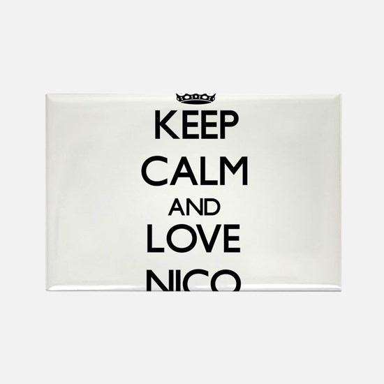 Keep Calm and Love Nico Magnets