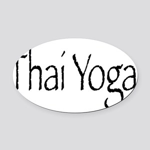 ty_blk Oval Car Magnet