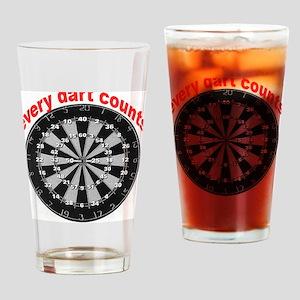 dartnumbers2 Drinking Glass