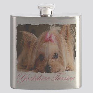Yorkie shirt Flask