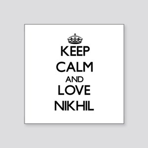 Keep Calm and Love Nikhil Sticker