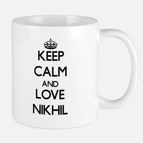 Keep Calm and Love Nikhil Mugs