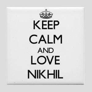 Keep Calm and Love Nikhil Tile Coaster