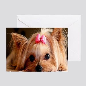Yorkie panel Greeting Card