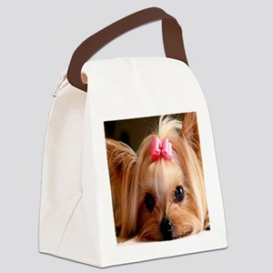 Yorkie panel Canvas Lunch Bag