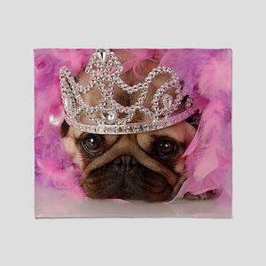 Fotolia Queen pug jpeg Throw Blanket